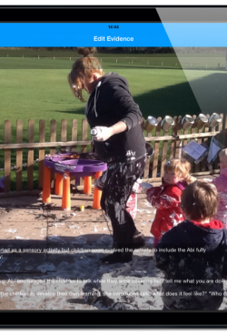 Example of evidence gathered with the Evidence for Learning app: Outdoor learning